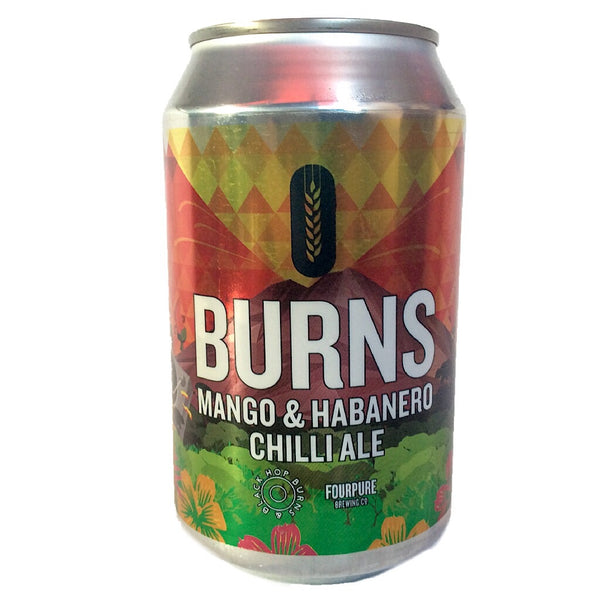 Fourpure x Hop Burns & Black BURNS Mango & Habanero Red Ale 5.9% (330ml can)-Hop Burns & Black