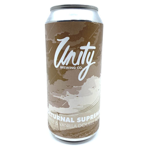 Unity Brewing Nocturnal Supremacy Coffee & Vanilla Double Porter 8% (440ml can)-Hop Burns & Black