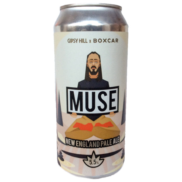 Gipsy Hill x Boxcar Brew Co Muse New England Pale Ale 5.5% (440ml can)-Hop Burns & Black