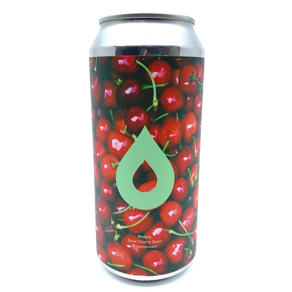 Polly's Brew Co Kirschentart Sour Cherry Gose 4.5% (440ml can)-Hop Burns & Black