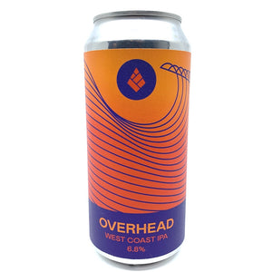 Drop Project Overhead West Coast IPA 6.8% (440ml can)-Hop Burns & Black