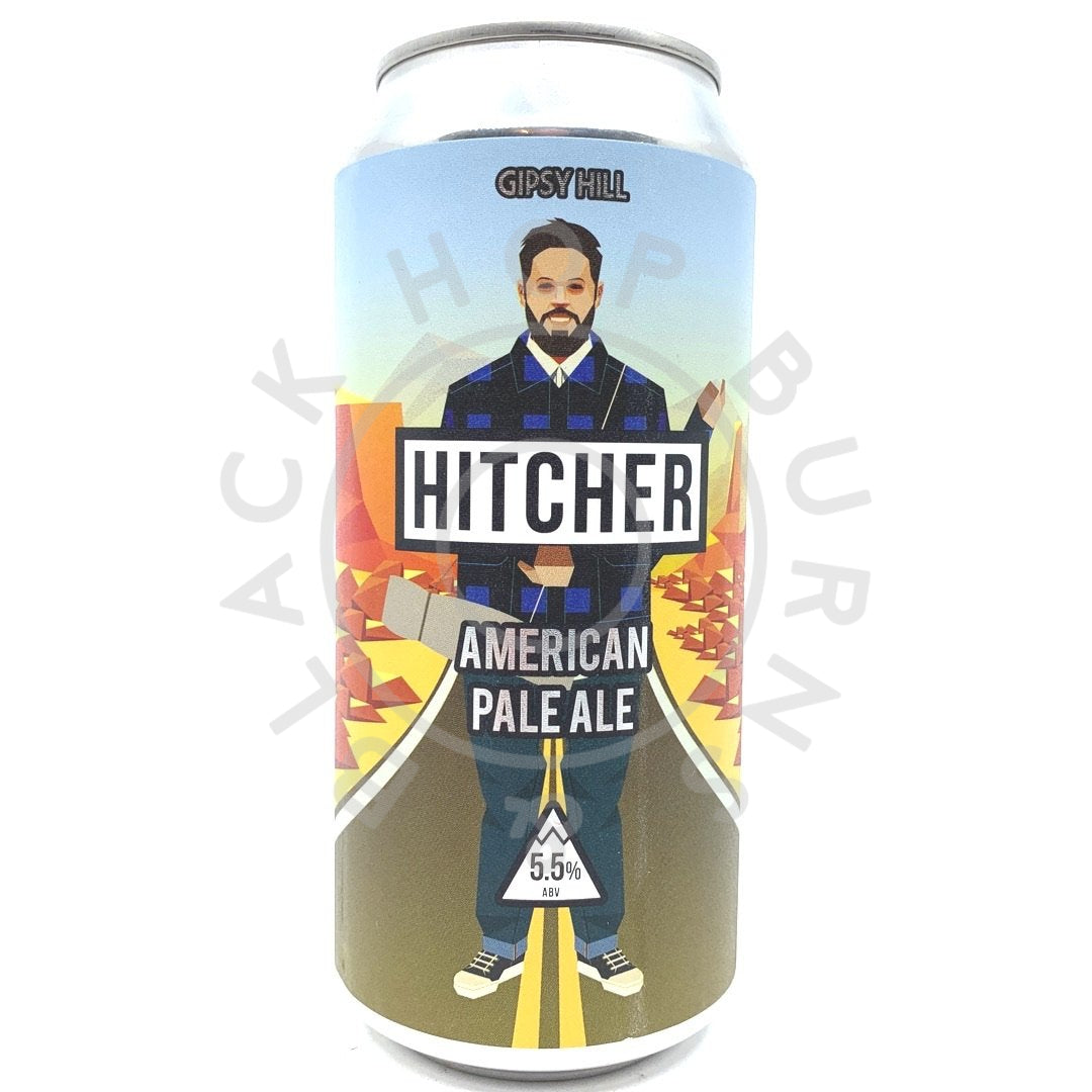 Gipsy Hill Hitcher American Pale Ale 5.5% (440ml can)-Hop Burns & Black