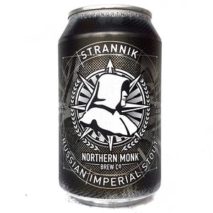 Northern Monk Strannik Imperial Stout 9% (330ml can)-Hop Burns & Black