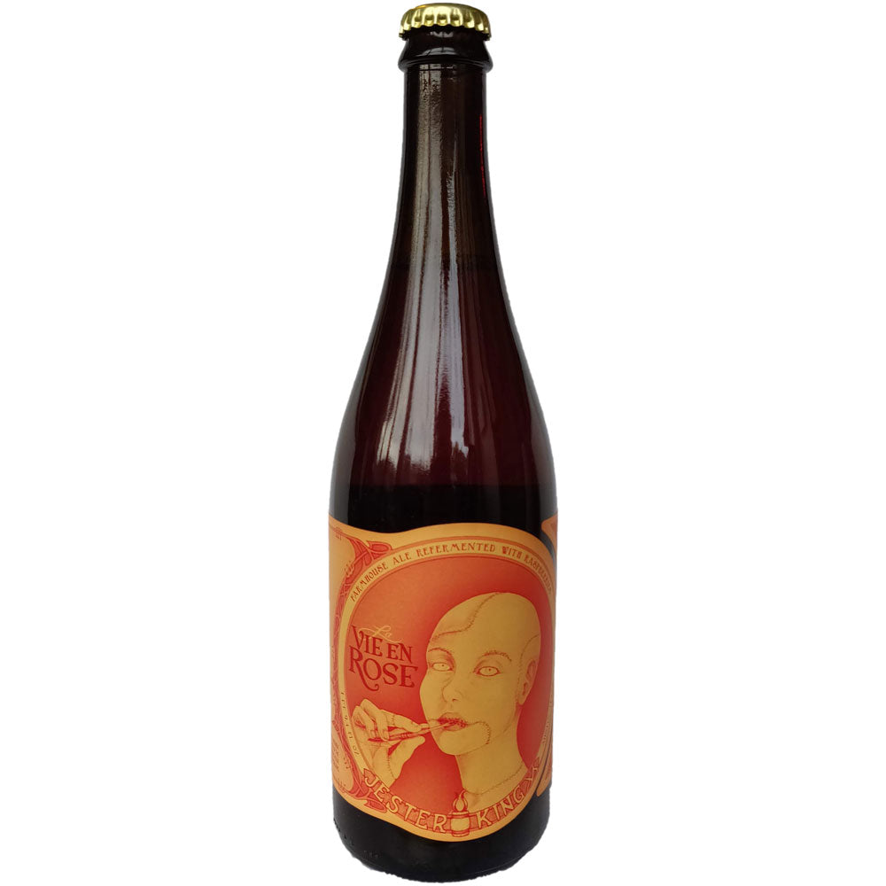 Jester King La Vie en Rose Farmhouse Ale with Raspberries 5.8% (750ml)-Hop Burns & Black