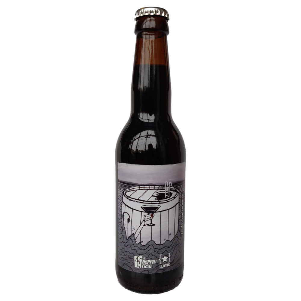Lervig x Hoppin' Frog Sippin' Into Darkness Bourbon Barrel Aged Imperial Stout 12% (330ml)-Hop Burns & Black