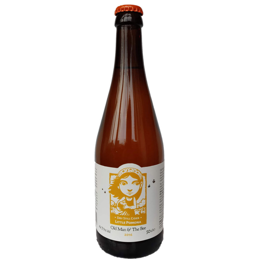 Little Pomona The Old Man & The Bee 2016 Dry Still Cider 7.1% (500ml)-Hop Burns & Black