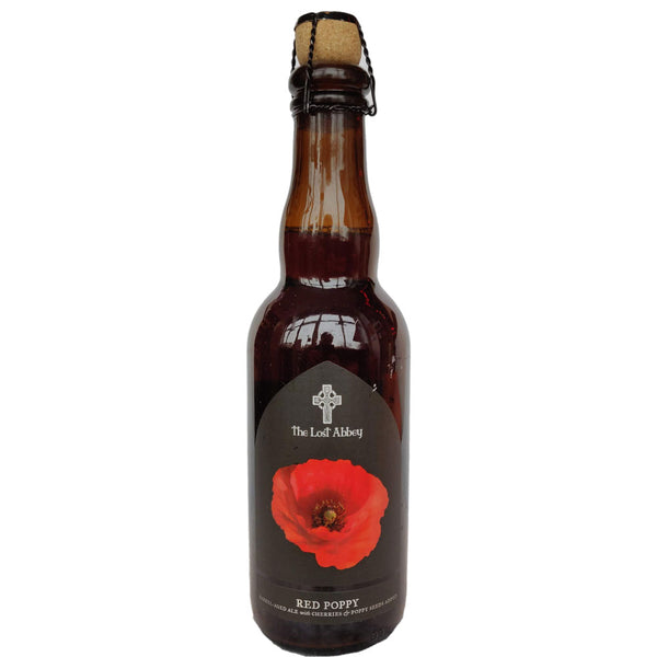 Lost Abbey Red Poppy Sour Ale with Cherries 6.5% (375ml)-Hop Burns & Black