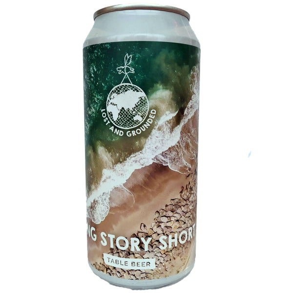 Lost & Grounded Long Story Short Table Beer 3.5% (440ml can)-Hop Burns & Black
