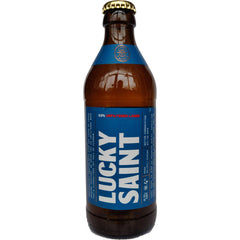 Lucky Saint Alcohol Free Unfiltered Lager 0.5% (330ml)-Hop Burns & Black