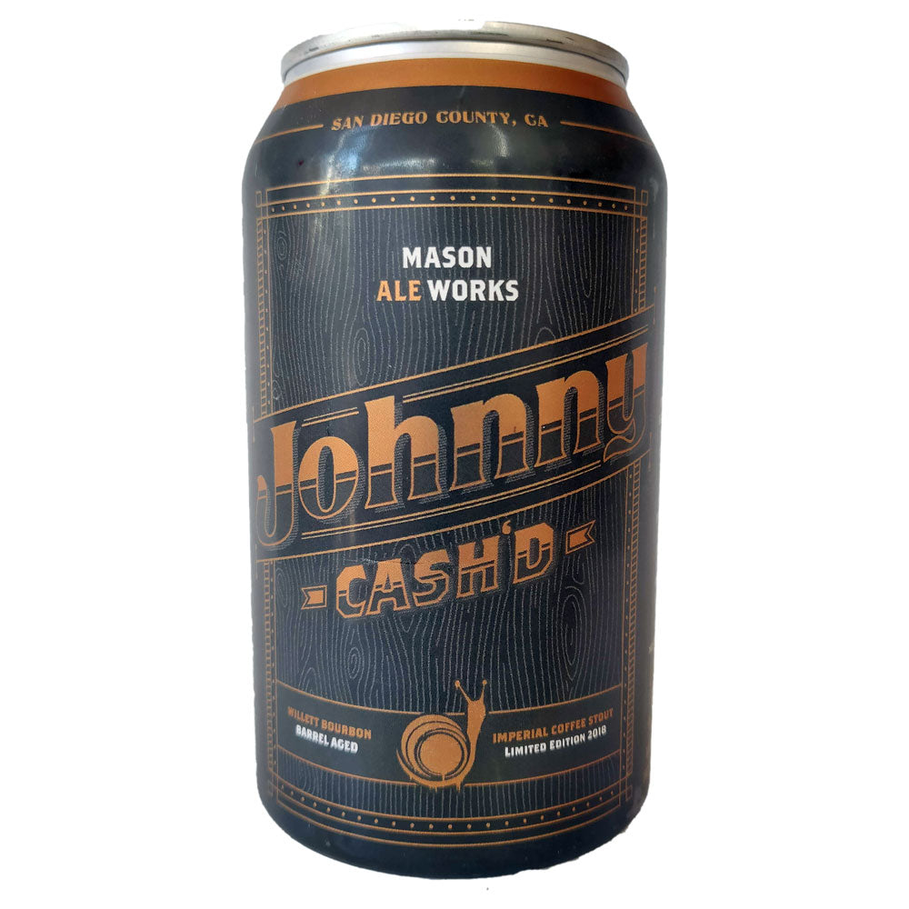 Mason Ale Works Johnny Cash'd Imperial Stout 12% (473ml can)-Hop Burns & Black