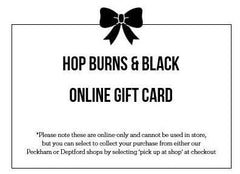 Online Gift Card-Hop Burns & Black