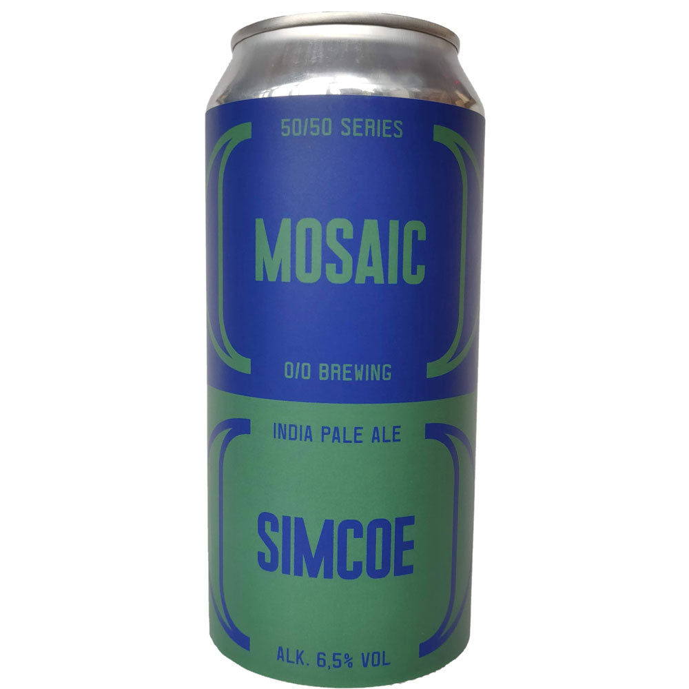 O/O Mosaic Simcoe IPA 6.5% (440ml can)-Hop Burns & Black