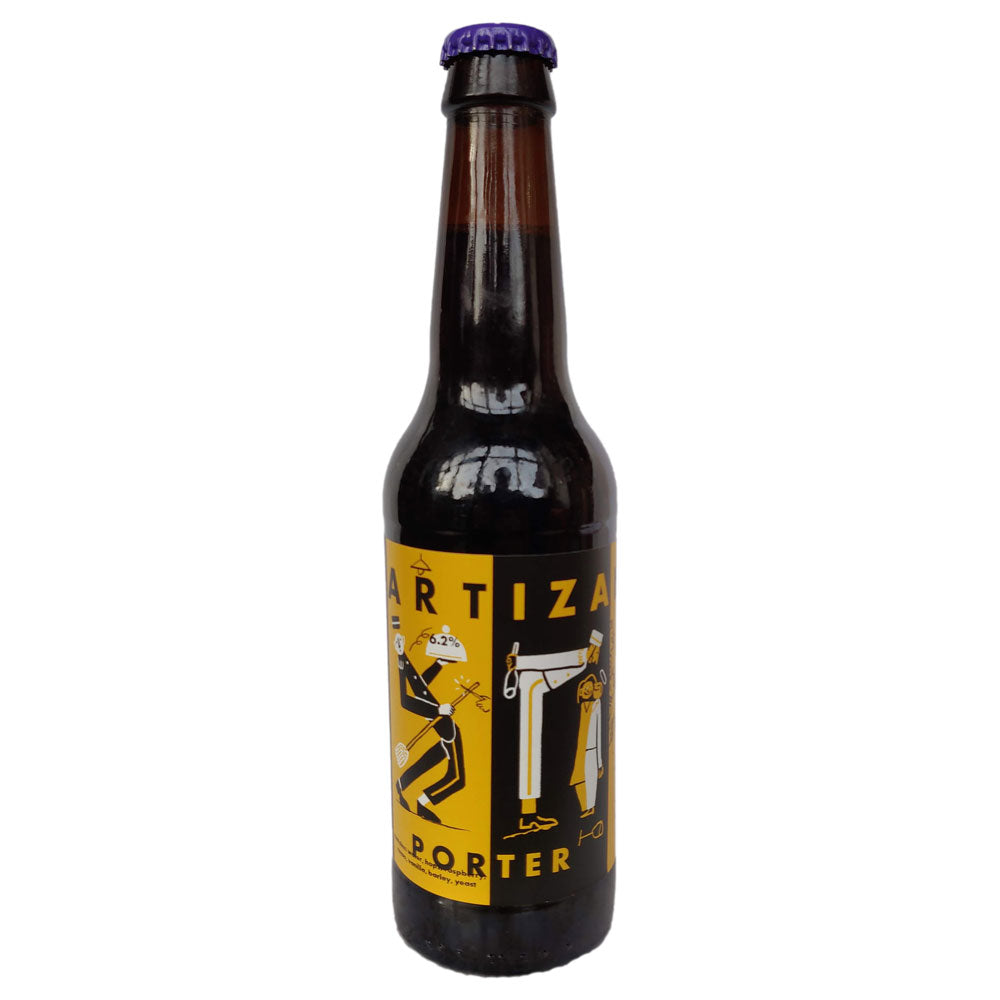 Partizan Raspberry & Chocolate Brownie Porter 6.2% (330ml)-Hop Burns & Black