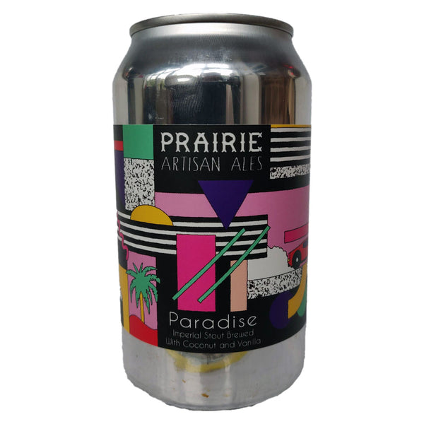 Prairie Paradise Imperial Stout 13% (355ml can)-Hop Burns & Black