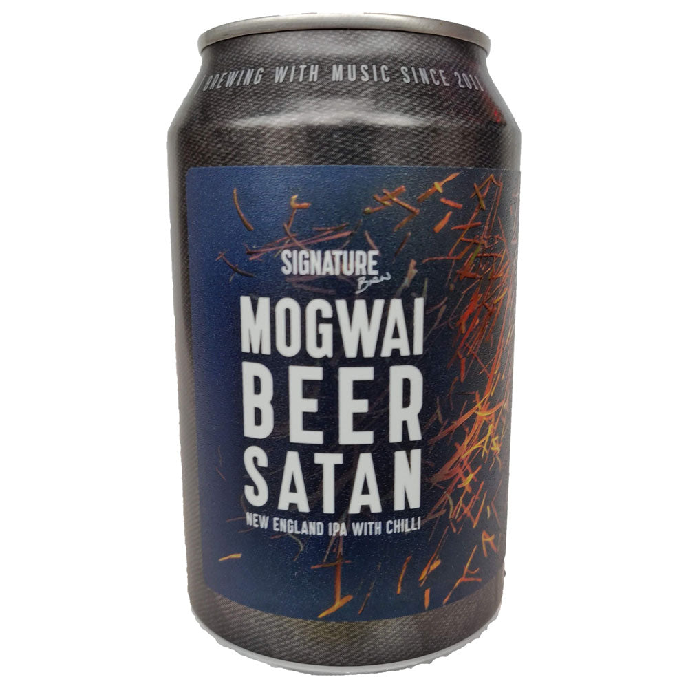 Signature Brew x Mogwai Beer Satan New England IPA with Chilli 5.2% (330ml can)-Hop Burns & Black
