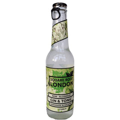 Square Root Non-Alcoholic Gin & Tonic (275ml)-Hop Burns & Black