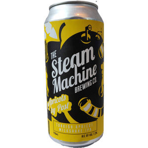 Steam Machine Apricots By Post Turkish Apricot Milkshake IPA 7.3% (440ml can)-Hop Burns & Black