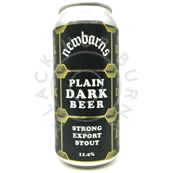 Newbarns Plain Dark Beer Strong Export Stout 11% (440ml can)-Hop Burns & Black