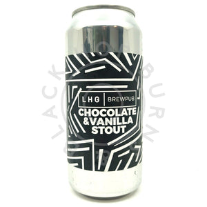 Left Handed Giant Brewpub Chocolate & Vanilla Stout 5% (440ml can)-Hop Burns & Black