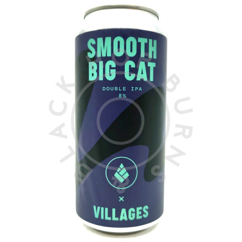 Villages x Drop Project Smooth Big Cat Double IPA 8% (440ml can)-Hop Burns & Black