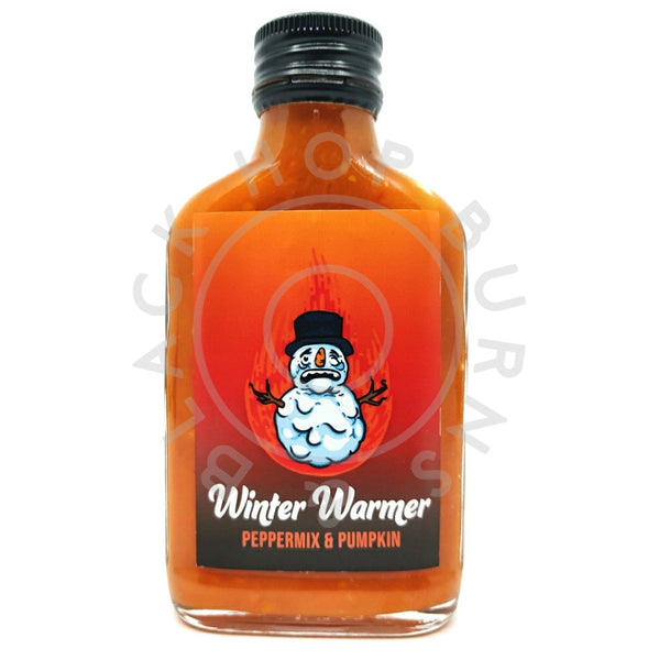 Crazy Bastard Winter Warmer Pepper Mix & Pumpkin Hot Sauce (100ml)-Hop Burns & Black