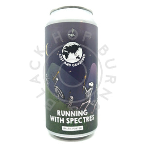 Lost & Grounded Running With Spectres Baltic Porter 6.8% (440ml can)-Hop Burns & Black