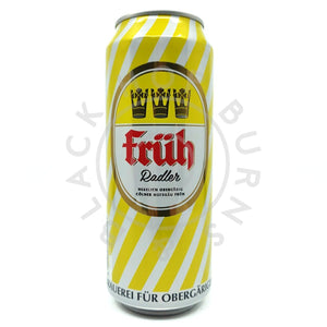 Fruh Radler 2.5% (500ml can)-Hop Burns & Black
