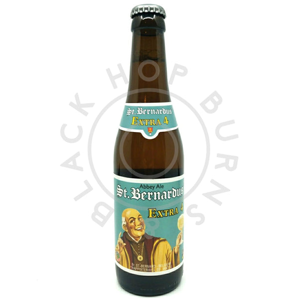 St Bernardus Extra 4 Blond 4.8% (330ml)-Hop Burns & Black