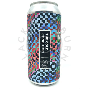 Wylam The Cold Condition Lagerbier 4.8% (440ml can)-Hop Burns & Black