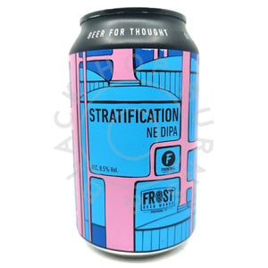 Brouwerij Frontaal Stratification Double IPA 8.5% (330ml can)-Hop Burns & Black
