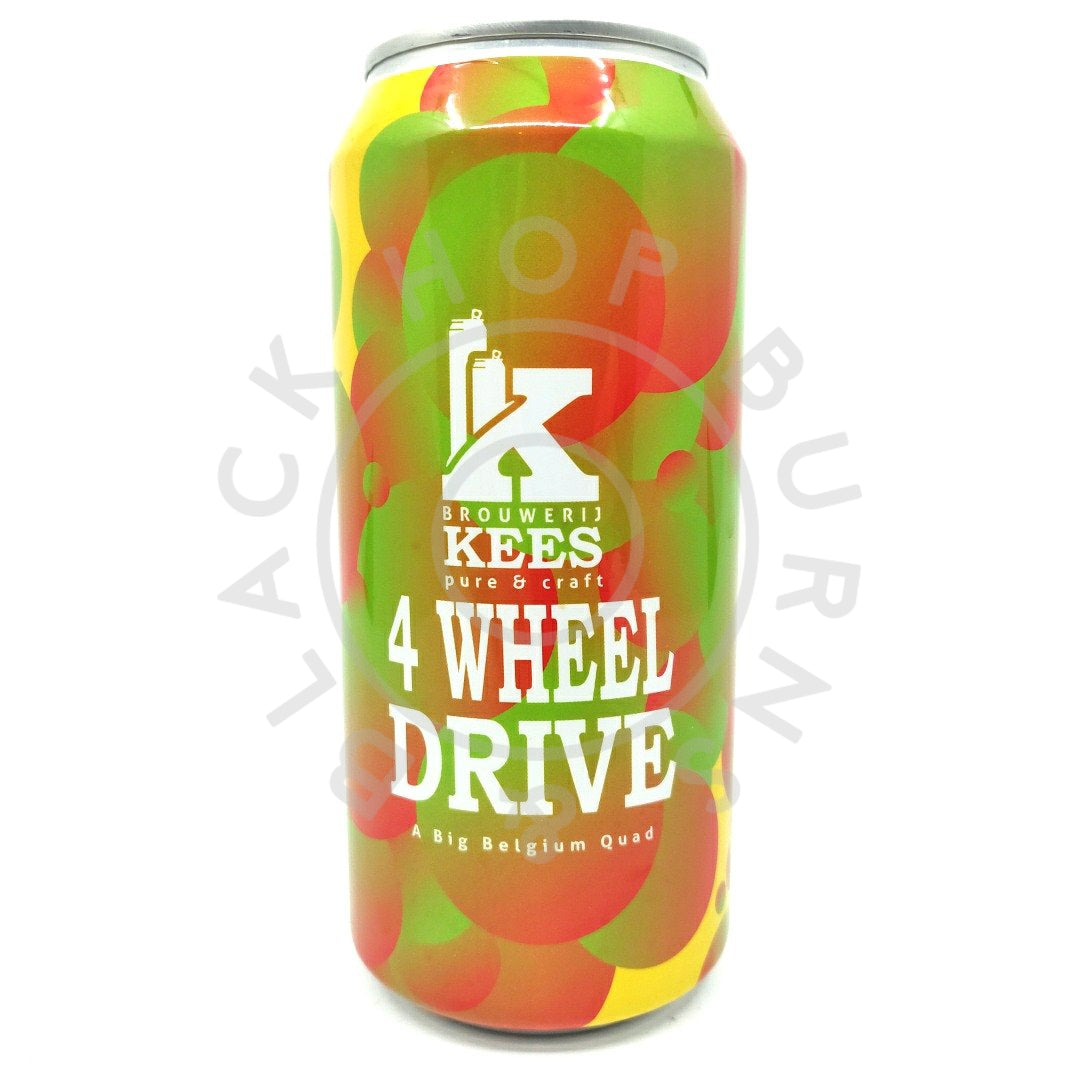 Kees x Pohjala 4 Wheel Drive Belgian Quadrupel 10.2% (440ml can)-Hop Burns & Black