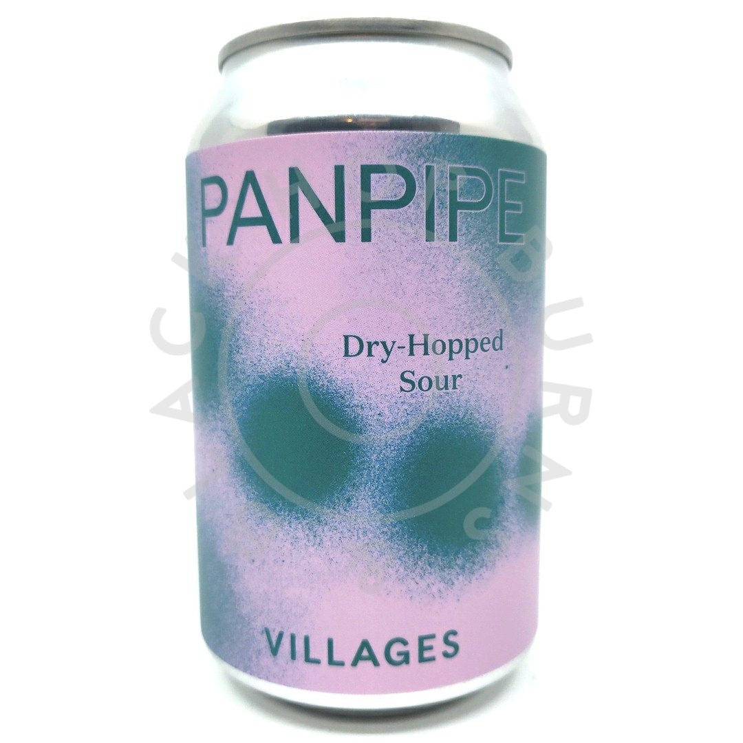 Villages Panpipe Dry-Hopped Sour 4.6% (330ml can)-Hop Burns & Black