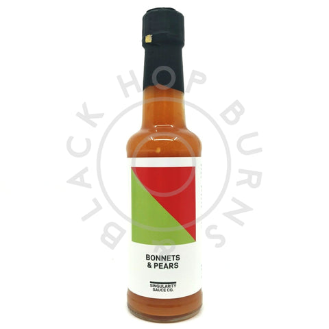 Singularity Sauce Co Bonnets & Pears Hot Sauce (148ml)-Hop Burns & Black