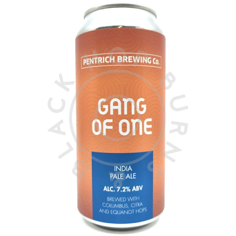 Pentrich Gang Of One IPA 7.2% (440ml can)-Hop Burns & Black