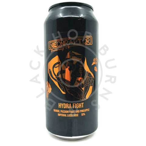 Neon Raptor Hydra Fight Imperial Lassi Gose 10% (440ml can)-Hop Burns & Black