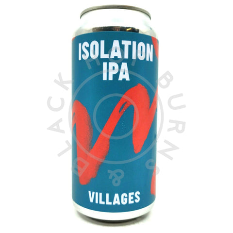 Villages Isolation IPA Number 4 6% (440ml can)-Hop Burns & Black