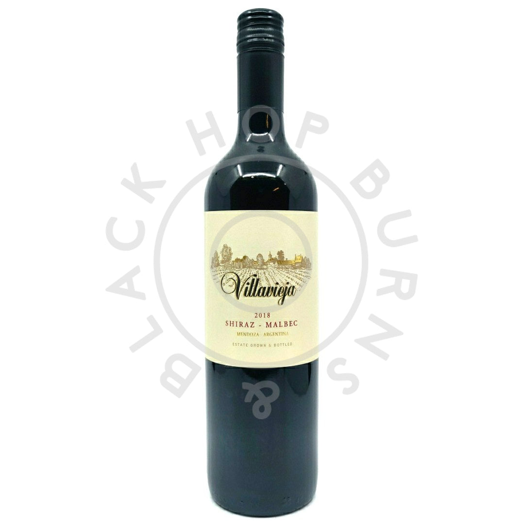 Villa Vieja Shiraz Malbec 2018 12% (750ml)-Hop Burns & Black