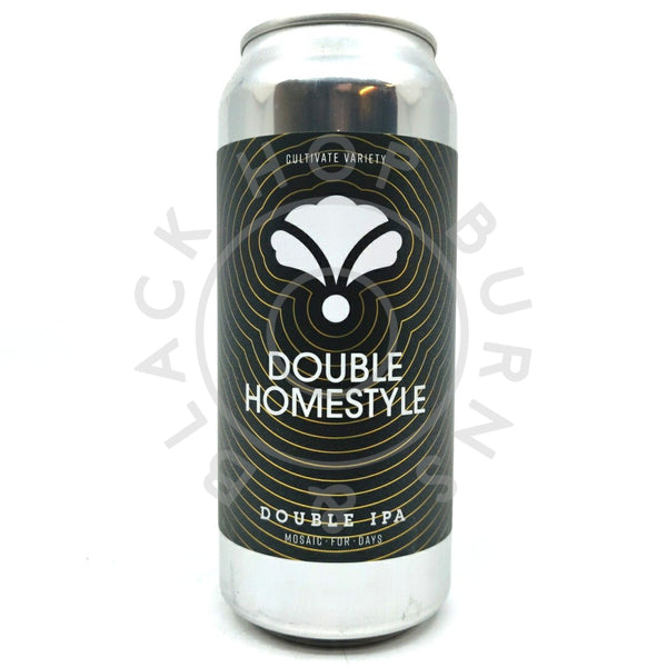 Bearded Iris Double Homestyle Double IPA 8.2% (473ml can)-Hop Burns & Black