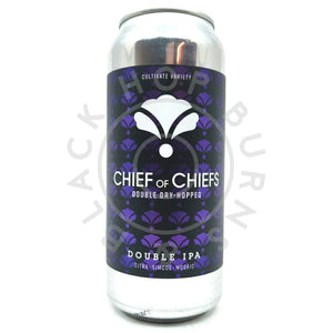 Bearded Iris Chief of Chiefs DDH Double IPA 7.5% (473ml can)-Hop Burns & Black