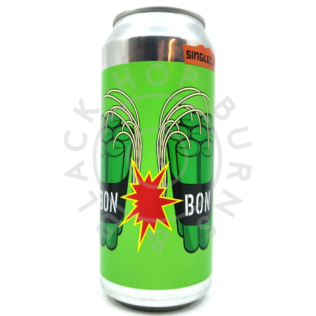 SingleCut Beersmiths Bon Bon DDH Double IPA 8% (473ml can)-Hop Burns & Black