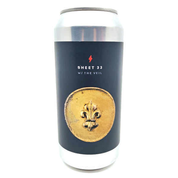 Garage Beer x The Veil Sheet 33 Porter 6.8% (440ml can)-Hop Burns & Black