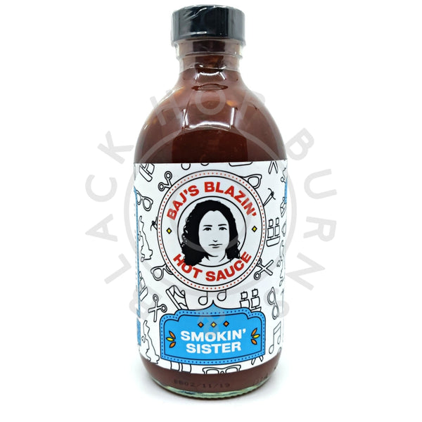 Baj's Blazin' Hot Sauce Smokin' Sister (250ml)-Hop Burns & Black