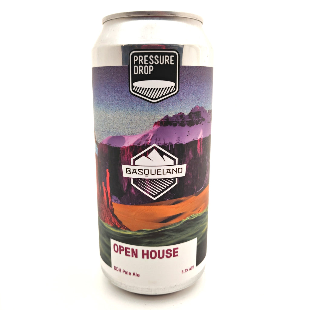 Pressure Drop Open House DDH Pale 5.2% (440ml can)-Hop Burns & Black