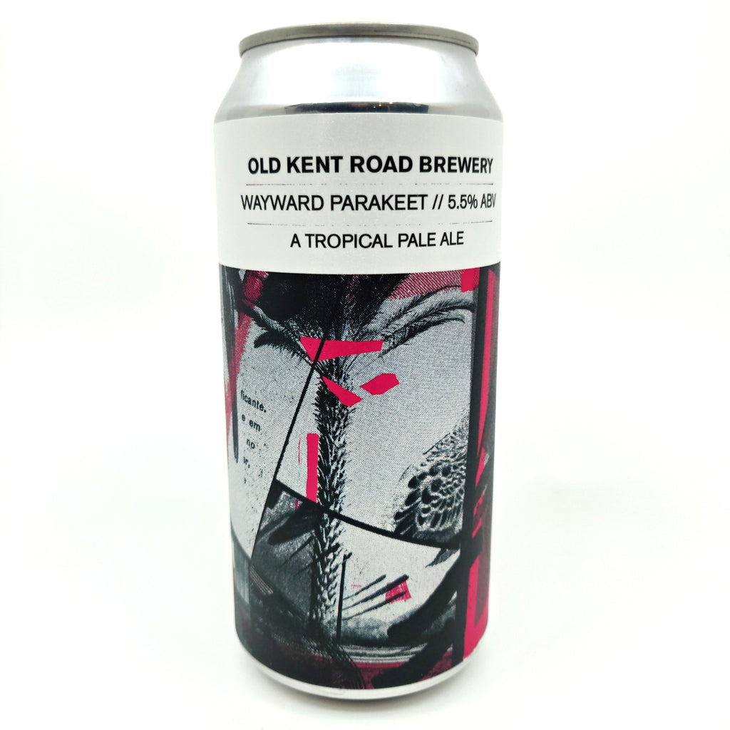 Old Kent Road Wayward Parakeet Tropical Pale Ale 5.5% (440ml can)-Hop Burns & Black