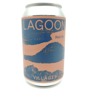 Villages Lagoon Red Ale 4.3% (330ml can)-Hop Burns & Black
