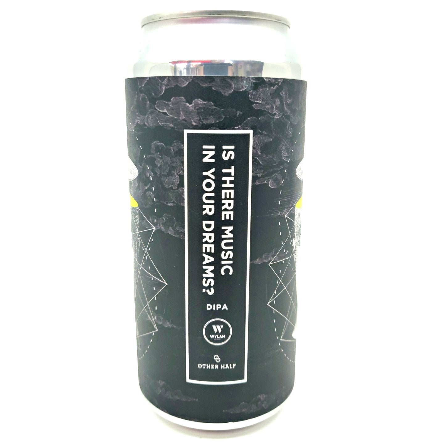 Wylam x Other Half Is There Music In Your Dreams? Double IPA 8.2% (440ml can)-Hop Burns & Black