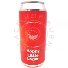 Cloudwater Hoppy Little Lager 3.6% (440ml can)-Hop Burns & Black