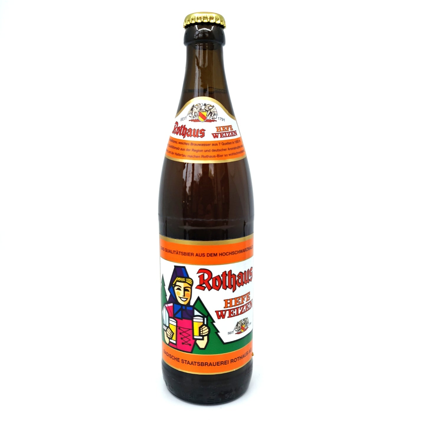 Rothaus Weizenzapfle Hefeweisse 5.4% (500ml)-Hop Burns & Black