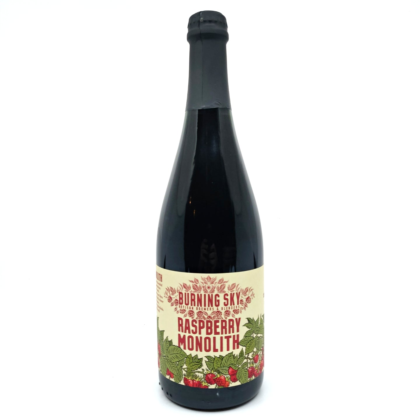 Burning Sky Raspberry Monolith Barrel Aged Black Beer 7.8% (750ml)-Hop Burns & Black