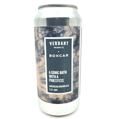 Verdant x Boxcar A Gong Bath With A Priestess American Brown Ale 5.3% (440ml can)-Hop Burns & Black